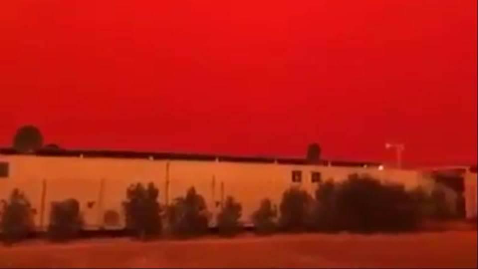 INCREÍBLE el Cielo en Yemen se Pone Rojo